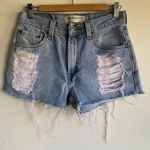Levi's 550 Cutoff Jean Shorts